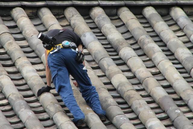 屋根の雨漏り調査目視