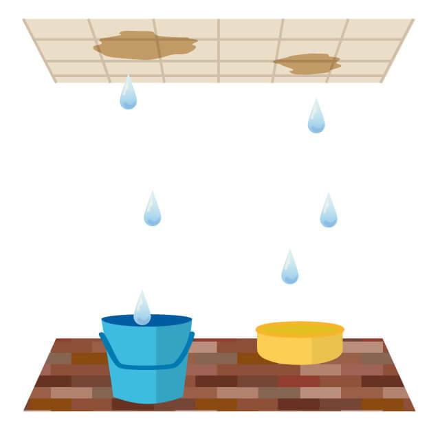 雨漏り応急処置方法