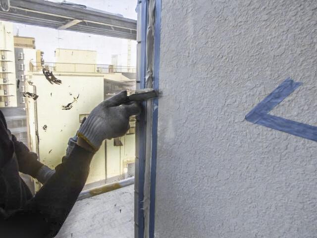 外壁修理コーキング